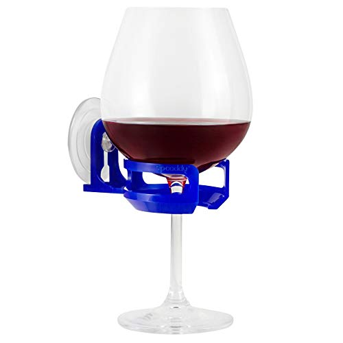 319t2SqhUHL - SipCaddy Bath & Shower Portable Cupholder Caddy for Beer & Wine Suction Cup Drink Shower Beer Holder, Clear
