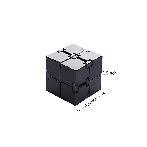 31XLPHoWBsL - Infinity Cube Fidget Toy, Sensory Tool EDC Fidgeting Game for Kids and Adults, Cool Mini Gadget Best for Stress and Anxiety Relief and Kill Time, Unique Idea that is Light on the Fingers and Hands