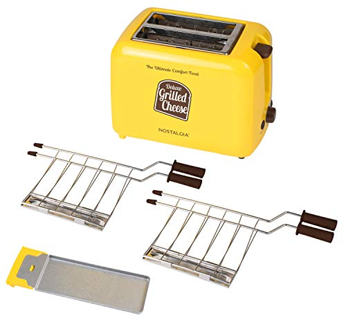 41 yY8MmNTL - Nostalgia TCS2 Grilled Cheese Toaster with Easy-Clean Toaster Baskets and Adjustable Toasting Dial