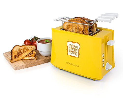 412BsT2B3 NnL - Nostalgia TCS2 Grilled Cheese Toaster with Easy-Clean Toaster Baskets and Adjustable Toasting Dial