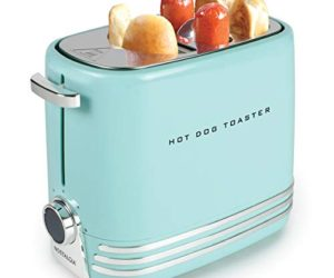 41D2Bo pKf1L 300x250 - Nostalgia HDT900AQ Pop-Up 2 Hot Dog and Bun Toaster With Mini Tongs, Works with Chicken, Turkey, Veggie Links, Sausages and Brats, Aqua Chrome