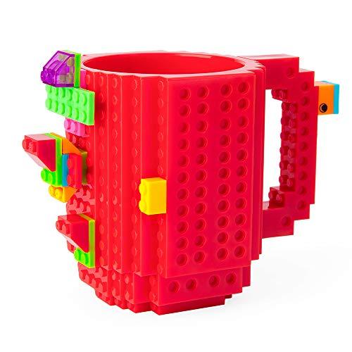 41DdUDUaxNL - BOMENNE Build-on Brick Mug,Novelty Creative Compatible with LEGO DIY building Blocks Coffee Cup with bricks,is unique Christmas gift Idea (Black)