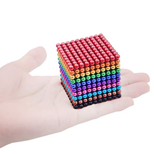 41G1pRCX0iL - JIFENGTOYS 8 Colors 216 Pcs 5MM Magnets Fidget Blocks Building Toys Magnetic Building Blocks Sets for Development Stress Relief Learning Gift for Adults (216 PCS)
