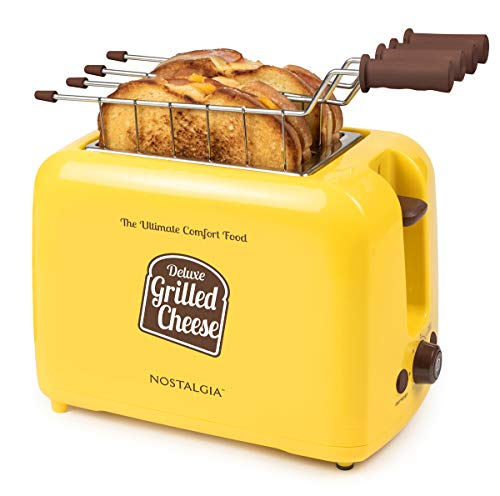 41IpeXOJbQL - Nostalgia TCS2 Grilled Cheese Toaster with Easy-Clean Toaster Baskets and Adjustable Toasting Dial
