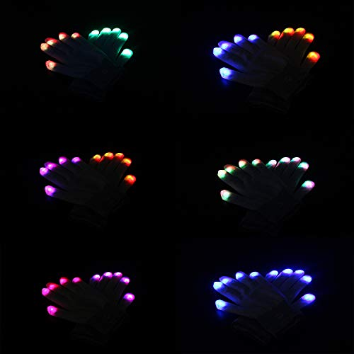 41JcHUJQeVL - LED Light up Gloves Finger Light Gloves for Kids Adults Glow Rave EDM Gloves Funny Novelty Gifts