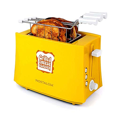 41KYRW5pz4L - Nostalgia TCS2 Grilled Cheese Toaster with Easy-Clean Toaster Baskets and Adjustable Toasting Dial