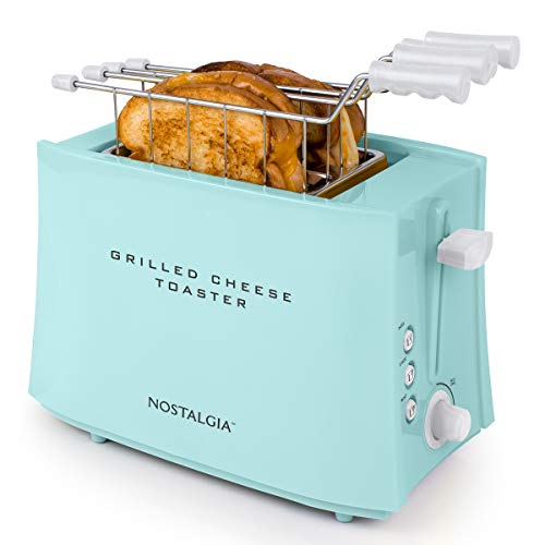 41KkjrufqkL - Nostalgia TCS2 Grilled Cheese Toaster with Easy-Clean Toaster Baskets and Adjustable Toasting Dial