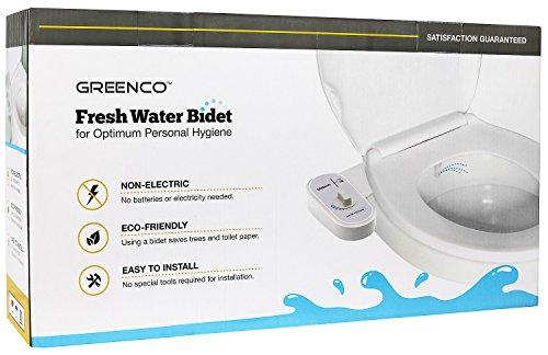 41LCuWmOlbL - Greenco Bidet Fresh Water Spray Non-Electric Mechanical Bidet Toilet Seat Attachment