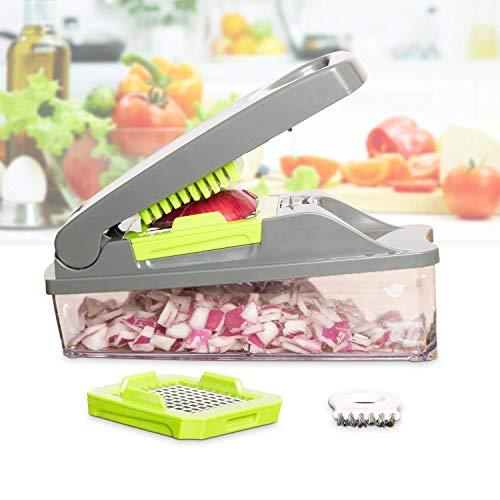 41LuyuqkCQL - Mueller Onion Chopper Pro Vegetable Chopper - Strongest - NO MORE TEARS 30% Heavier Duty Multi Vegetable-Fruit-Cheese-Onion Chopper-Dicer-Kitchen Cutter