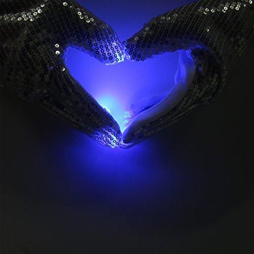 41SNOko3sZL - LED Light up Gloves Finger Light Gloves for Kids Adults Glow Rave EDM Gloves Funny Novelty Gifts