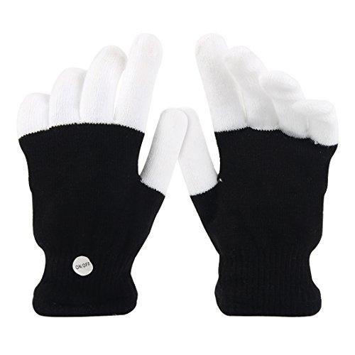 41SgXAp941L - LED Light up Gloves Finger Light Gloves for Kids Adults Glow Rave EDM Gloves Funny Novelty Gifts