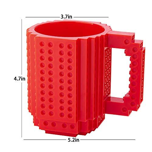 41URlPyJFBL - BOMENNE Build-on Brick Mug,Novelty Creative Compatible with LEGO DIY building Blocks Coffee Cup with bricks,is unique Christmas gift Idea (Black)
