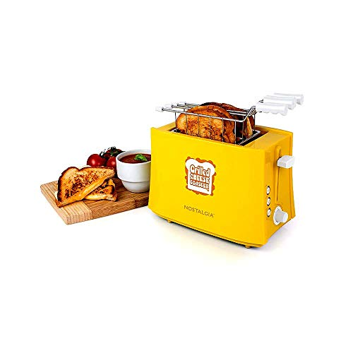 41VpXBCk3nL - Nostalgia TCS2 Grilled Cheese Toaster with Easy-Clean Toaster Baskets and Adjustable Toasting Dial