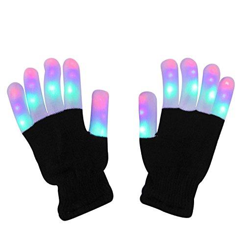 41aPMk44FSL - LED Light up Gloves Finger Light Gloves for Kids Adults Glow Rave EDM Gloves Funny Novelty Gifts