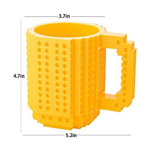 41gE9Bum5DL - BOMENNE Build-on Brick Mug,Novelty Creative Compatible with LEGO DIY building Blocks Coffee Cup with bricks,is unique Christmas gift Idea (Black)