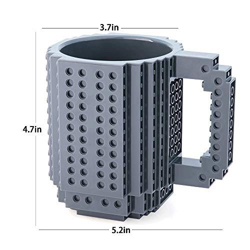 41hlFw7qAXL - BOMENNE Build-on Brick Mug,Novelty Creative Compatible with LEGO DIY building Blocks Coffee Cup with bricks,is unique Christmas gift Idea (Black)