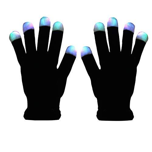 41lGE1IvPjL - LED Light up Gloves Finger Light Gloves for Kids Adults Glow Rave EDM Gloves Funny Novelty Gifts