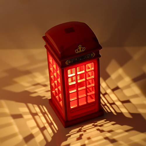 41lpLREYlVL - Vintage London Telephone Booth Designed USB Charging LED Night Lamp Touch Sensor Table Desk Light for Bedroom Students Dormitory Illumination Home Bar Decoration Novelty Birthday Adjustable Brightness
