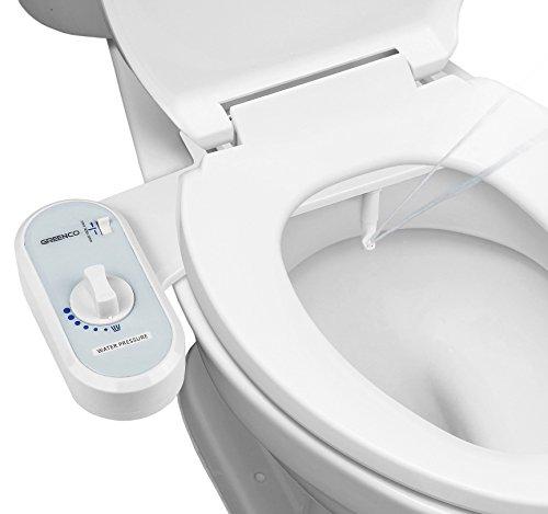 41opnhn7ulL - Greenco Bidet Fresh Water Spray Non-Electric Mechanical Bidet Toilet Seat Attachment