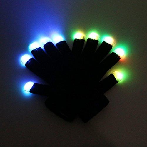 41pVIUvPPdL - LED Light up Gloves Finger Light Gloves for Kids Adults Glow Rave EDM Gloves Funny Novelty Gifts