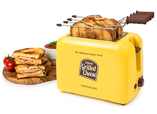 41tr6XXJe5L - Nostalgia TCS2 Grilled Cheese Toaster with Easy-Clean Toaster Baskets and Adjustable Toasting Dial