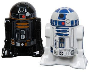 5102B2BIXN5lL 300x250 - Star Wars Droid Salt and Pepper Shakers - Ceramic R2-D2 and R2Q5 - Add a little Star Wars to every Meal