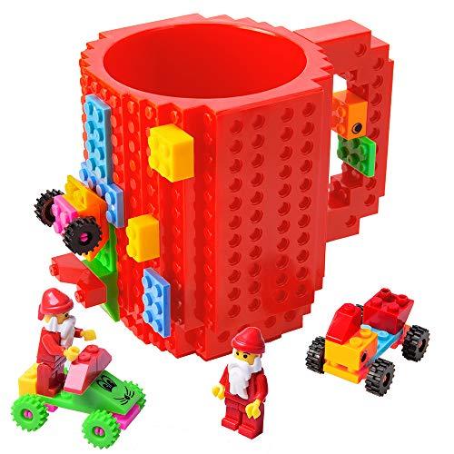512B5rJCLZOL - BOMENNE Build-on Brick Mug,Novelty Creative Compatible with LEGO DIY building Blocks Coffee Cup with bricks,is unique Christmas gift Idea (Black)