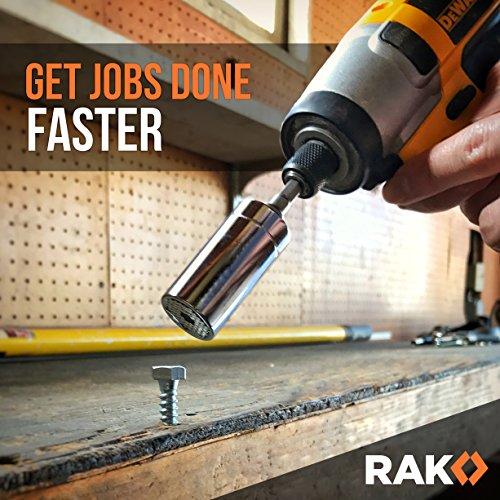 512BQQ53f5L - RAK Universal Socket Grip (7-19mm) Multi-Function Ratchet Wrench Power Drill Adapter 2Pc Set - Best Unique Christmas Gift for Men, DIY Handyman, Father/Dad, Husband, Boyfriend, Him, Women