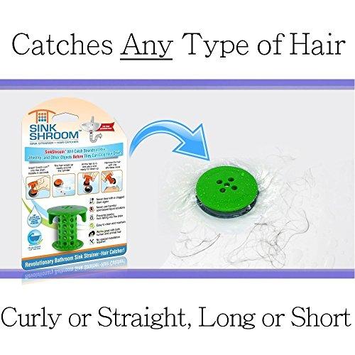 512BWeGMql8L - SinkShroom The Revolutionary Sink Drain Protector Hair Catcher/Strainer/Snare, White