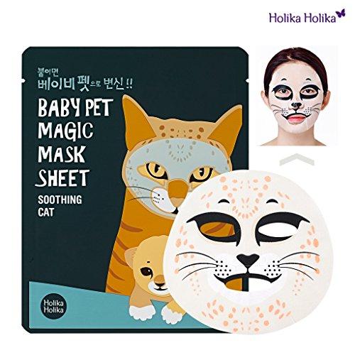 512n BCimkL - [Holika Holika] Baby Pet Magic Mask Sheet 22ml #Soothing Cat (10 Sheet)