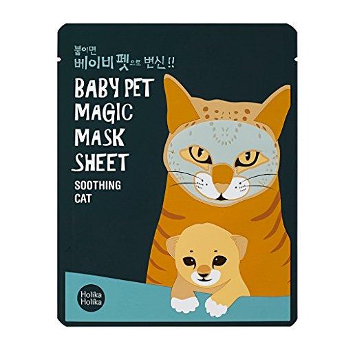 512sUlnkKlL - [Holika Holika] Baby Pet Magic Mask Sheet 22ml #Soothing Cat (10 Sheet)