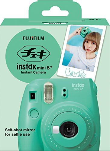 515tjDTBxdL - Fujifilm Instax Mini 8+ (Mint) Instant Film Camera + Self Shot Mirror for Selfie Use - International Version (No Warranty)