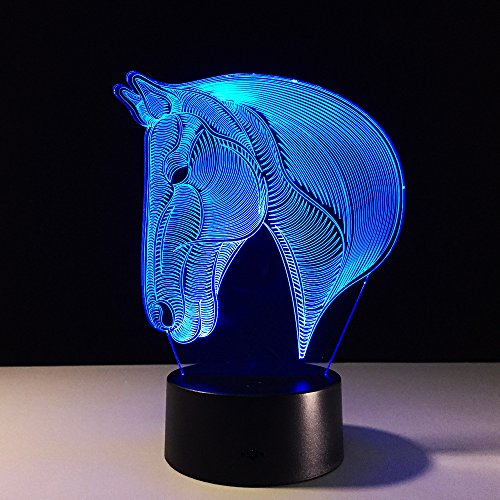 516uhd9W1lL - Dinosaur 3D Night Light Touch Activated Desk Lamp, Ticent 7 Colors 3D Optical Illusion Lights with Acrylic Flat, ABS Base & USB Charger for Christmas Kids Gifts