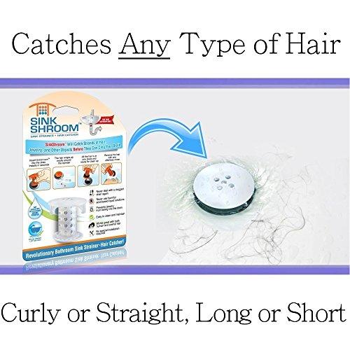 516vb4XzgVL - SinkShroom The Revolutionary Sink Drain Protector Hair Catcher/Strainer/Snare, White