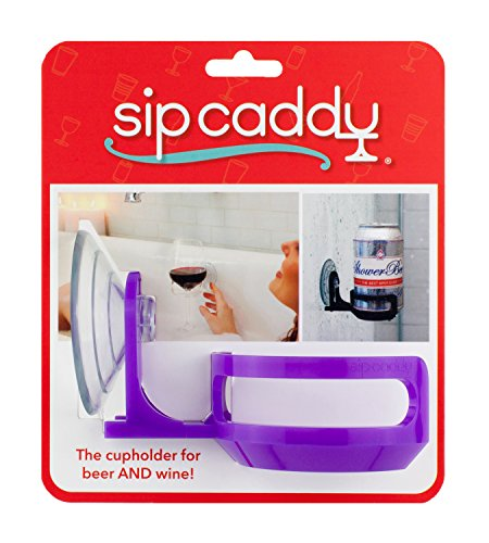 517sGqkxWKL - SipCaddy Bath & Shower Portable Cupholder Caddy for Beer & Wine Suction Cup Drink Shower Beer Holder, Clear
