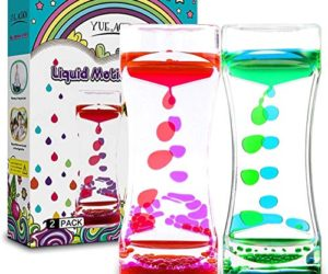 517tIRSBjTL 300x250 - YUE ACTION Liquid Timer 2 Pack / Liquid Motion Bubbler Timer for Calming Sensory Toys, Autism Toys ,Fidget Toy, Children Activity, Desk Toys,Novelty Gifts, Assorted Colors (Green+Red Set)