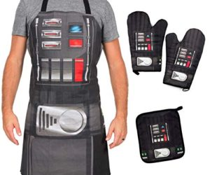 518 XhT3l L 300x250 - Star Wars Darth Vader Apron, Oven Mitts and Pot Holder Trivet Set - Cook, Grill and Bake on The Dark Side - One Size - 4 Piece Set