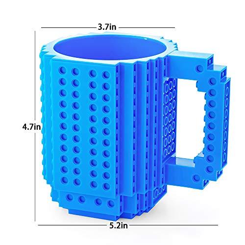 518nDqpHJOL - BOMENNE Build-on Brick Mug,Novelty Creative Compatible with LEGO DIY building Blocks Coffee Cup with bricks,is unique Christmas gift Idea (Black)