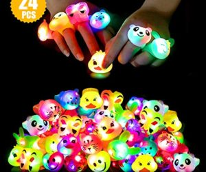 519HwKRmLKL 300x250 - Light Up Rings Birthday Party Favors for Kids Prizes Flashing 24 Pack LED Jelly Rings Novelty Bulk Toys Boys Girls Gift Glow in The Dark Thanksgiving Christmas Party Supplies