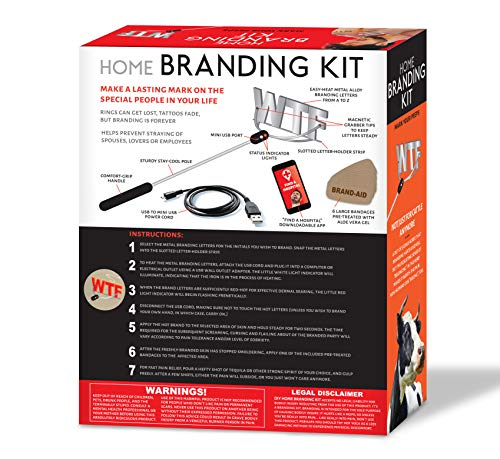 519Xd6tYvTL - Maad Home Branding Kit Prank Gift Box - Perfect Gag, Anniversary Presents, or White Elephant