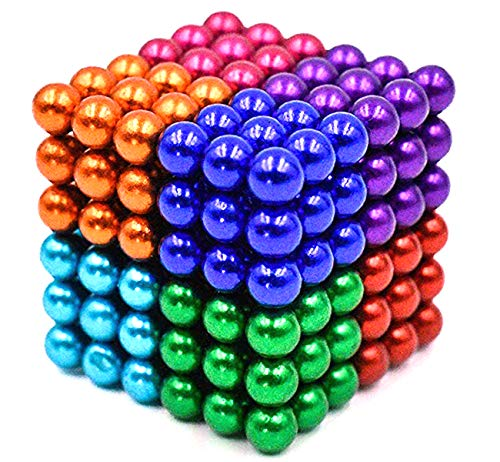519v4hwvrzL - JIFENGTOYS 8 Colors 216 Pcs 5MM Magnets Fidget Blocks Building Toys Magnetic Building Blocks Sets for Development Stress Relief Learning Gift for Adults (216 PCS)