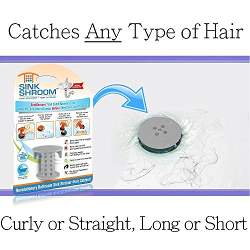 51F3xDNyy2BL - SinkShroom The Revolutionary Sink Drain Protector Hair Catcher/Strainer/Snare, White