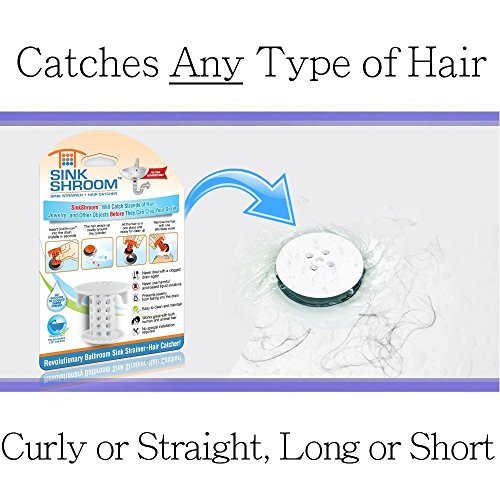 51GTbjmg6PL - SinkShroom The Revolutionary Sink Drain Protector Hair Catcher/Strainer/Snare, White