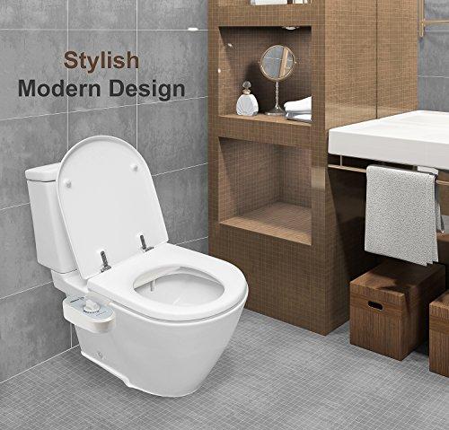 51IFW7Jst9L - Greenco Bidet Fresh Water Spray Non-Electric Mechanical Bidet Toilet Seat Attachment