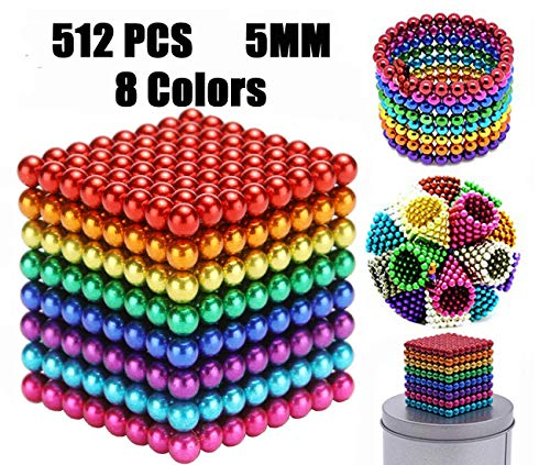 51LEWhONmGL - JIFENGTOYS 8 Colors 216 Pcs 5MM Magnets Fidget Blocks Building Toys Magnetic Building Blocks Sets for Development Stress Relief Learning Gift for Adults (216 PCS)