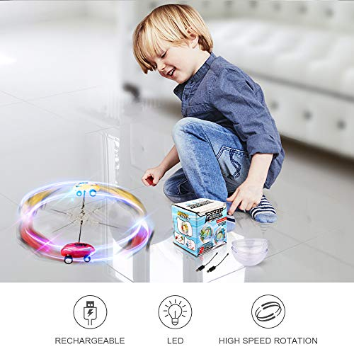51LWOBfBVxL - EpochAir Cars Toys High Speed Micro Racer Stunt Mini Car 360 Degree Rotating with Dazzling LED Light Rechargable Novelty Stress Relief Toy Xmas Gift for Adults Kids Boys and Girls