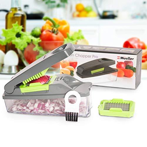 51LpgG0q9PL - Mueller Onion Chopper Pro Vegetable Chopper - Strongest - NO MORE TEARS 30% Heavier Duty Multi Vegetable-Fruit-Cheese-Onion Chopper-Dicer-Kitchen Cutter