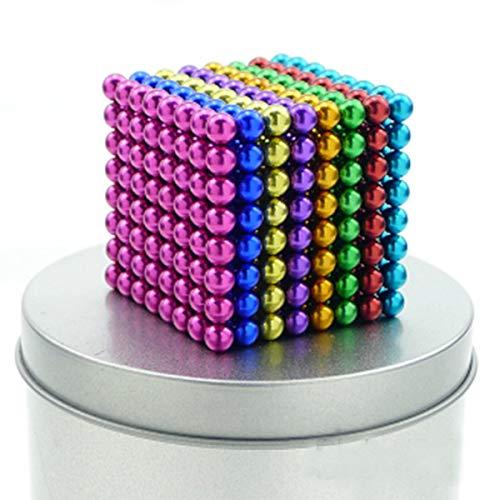 51Lzkz0TOhL - JIFENGTOYS 8 Colors 216 Pcs 5MM Magnets Fidget Blocks Building Toys Magnetic Building Blocks Sets for Development Stress Relief Learning Gift for Adults (216 PCS)