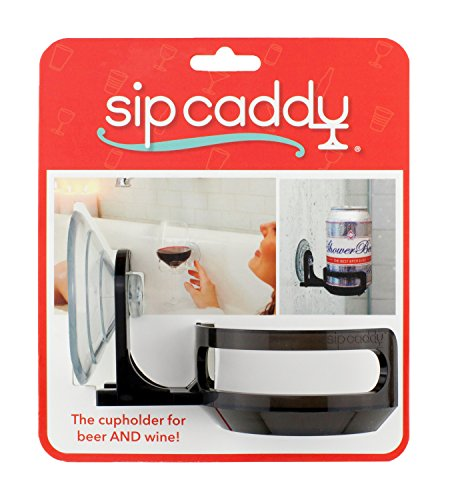 51MgFrQaM4L - SipCaddy Bath & Shower Portable Cupholder Caddy for Beer & Wine Suction Cup Drink Shower Beer Holder, Clear