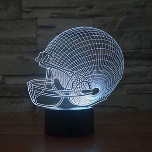 51N2BYYJ2yDL - Dinosaur 3D Night Light Touch Activated Desk Lamp, Ticent 7 Colors 3D Optical Illusion Lights with Acrylic Flat, ABS Base & USB Charger for Christmas Kids Gifts